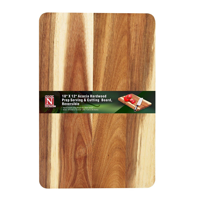 Cook N Home 02530 Cutting Board, Wood