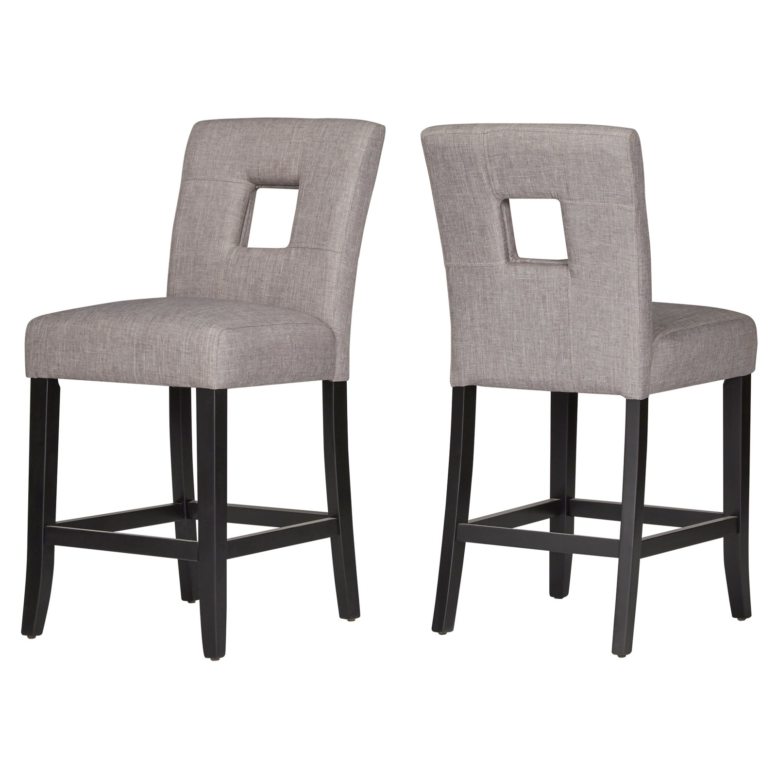 counter height vanity chair. chelsea lane linen keyhole counter height dining chair - set of 2 vanity d