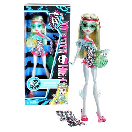 Monster High Beach Beasties Lagoona Doll - Monster High Halloween Wolf Doll