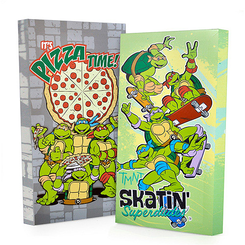 Nickelodeon Teenage Mutant Ninja Turtles Glow in the Dark 2-Pack Canvas Wall Art