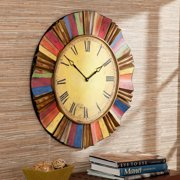 Los Cabos Wall Clock, Multi-Colored, Rustic Transitional