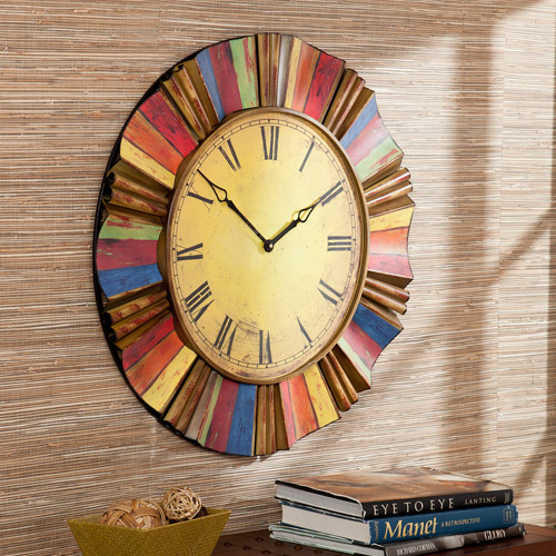 Southern Enterprises Los Cabos Wall Clock, Multi-Colored