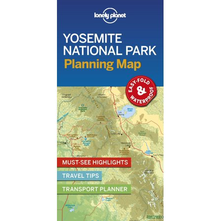 Map: Lonely Planet Yosemite National Park Planning Map (Other)