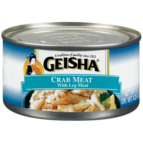 (3 Pack) Geisha Crab Meat with Leg Meat, 6 oz