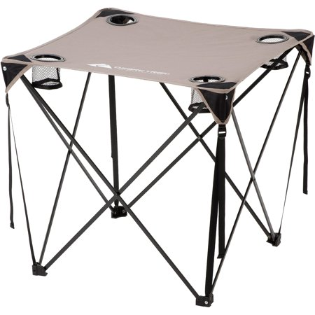 Ozark Trail Quad Folding Table With Cup Holders Grey