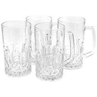 Gibson Home Jewelite 4 Piece 21 oz. Glass Beer Mug Set