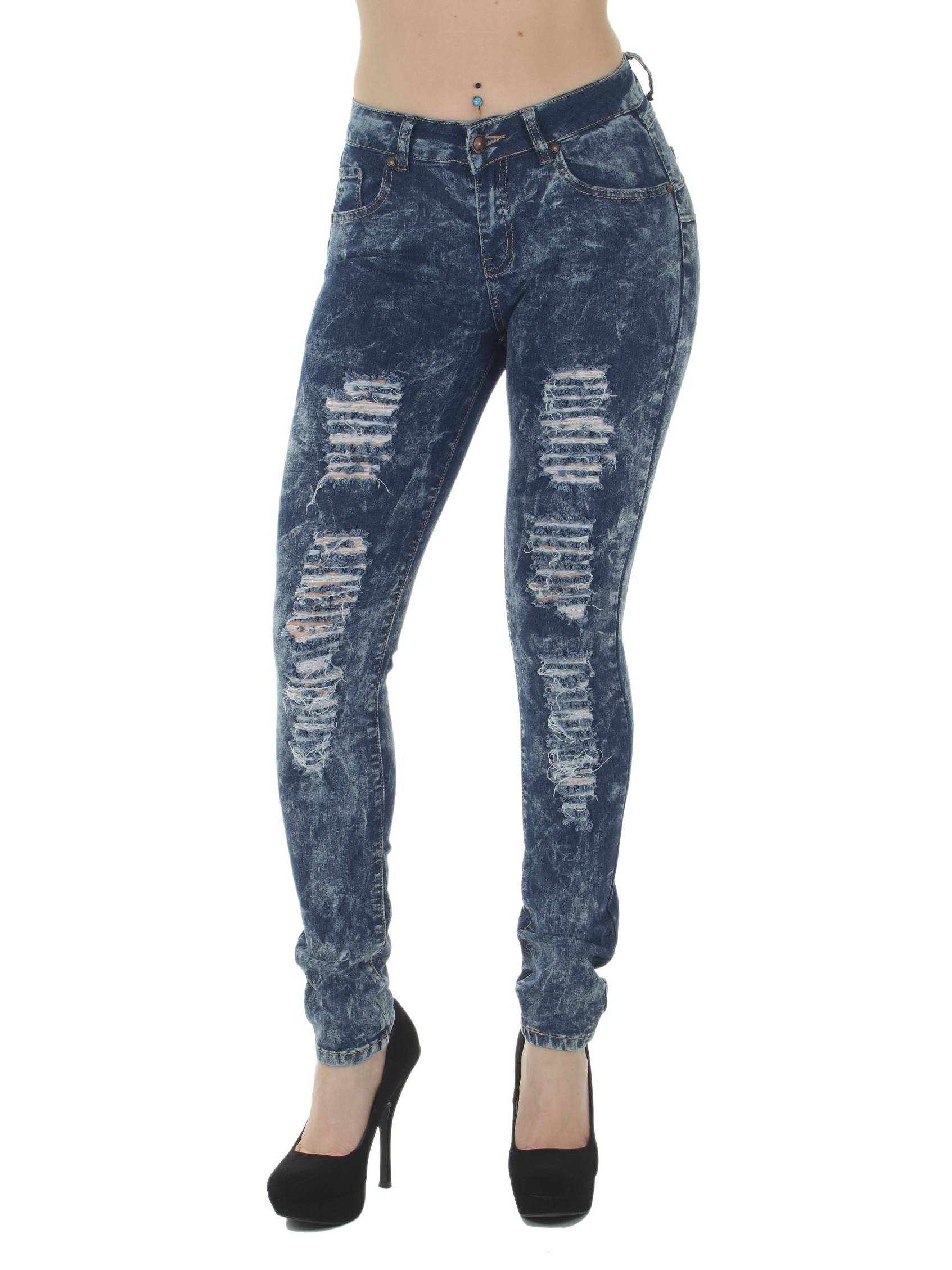 K882R  Butt Lift, Levanta Cola, Destroyed, Ripped, Mid Waist, Sexy Skinny Jeans