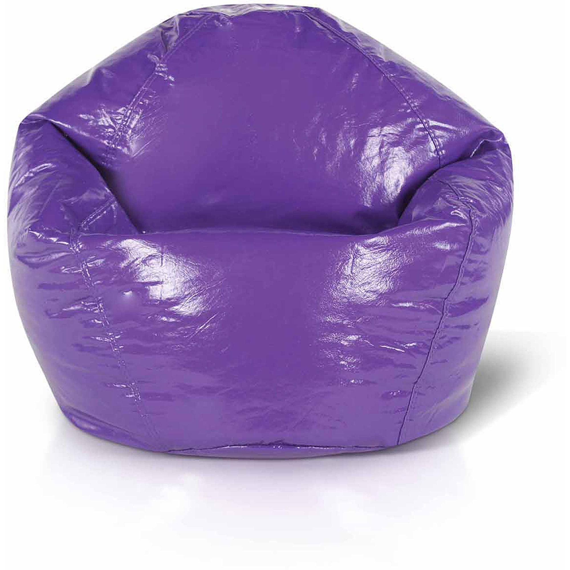 Junior Wetlook Collection Bean Bag Chair, Vinyl Grape