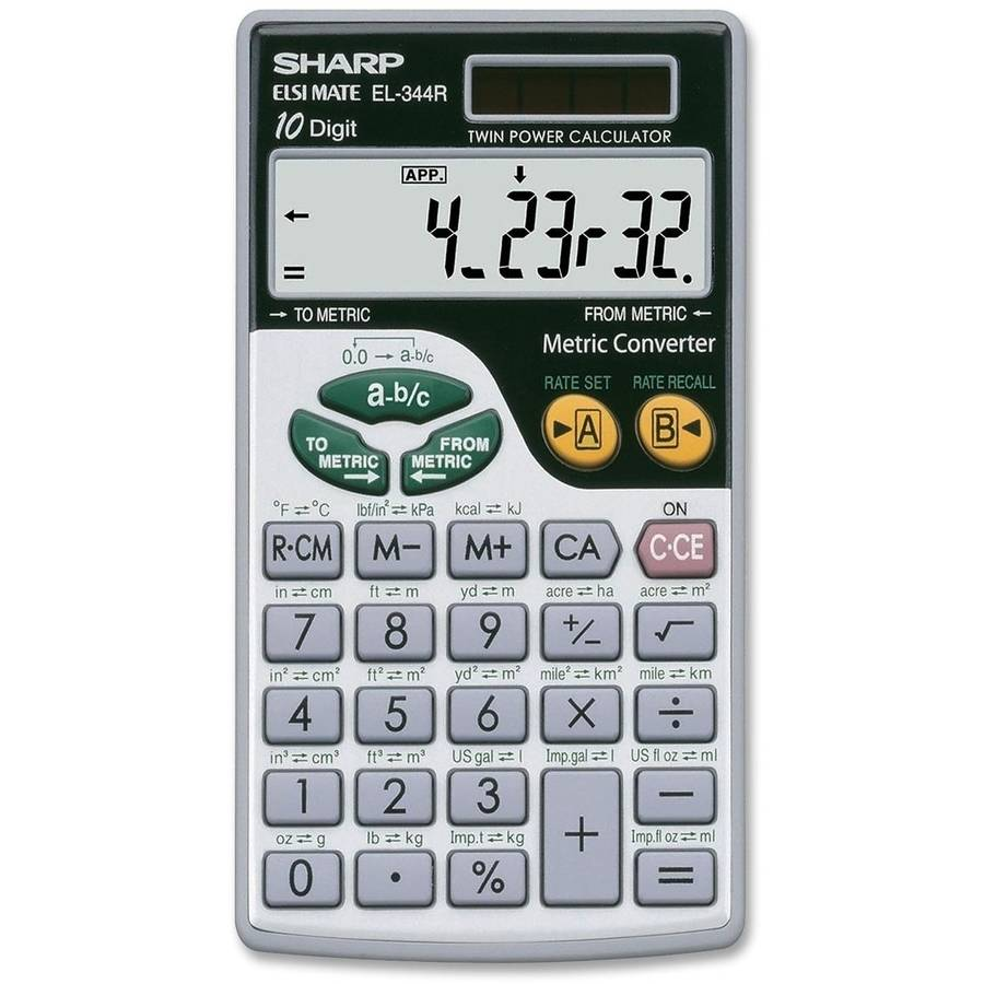 Sharp EL344RB Metric Calculator