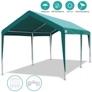 10' x 20' Heavy Duty Carport Car Canopy Garage Shelter Party Tent, Adjustable Height from 6.5ft to 8.0ft, Green