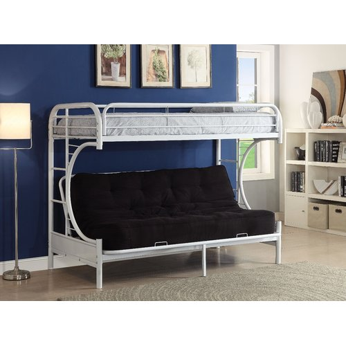 Zoomie Kids Kimble Twin Xl Over Queen Futon Bunk Bed Walmart Com