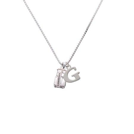 Delight Jewelry - Silvertone 3-D Fire Engine - G - Initial Necklace - Walmart.com