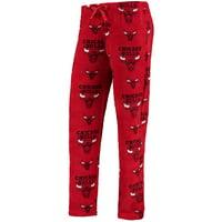 Chicago Bulls UNK Women's Plush Pajamas Pants - Red