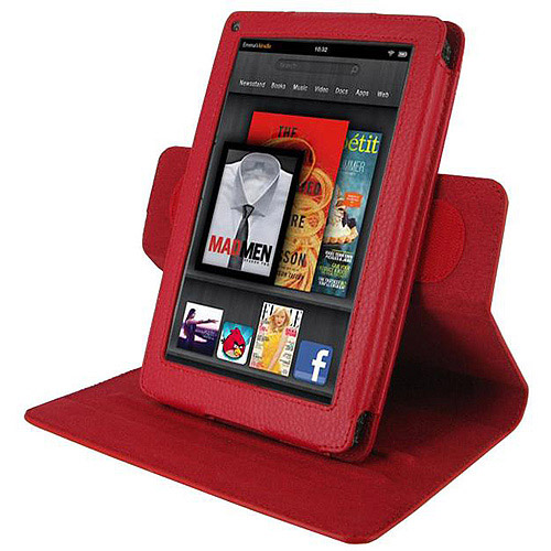 Dual-View Vegan Leather Case for Amazon Kindle Fire