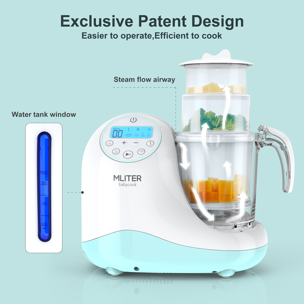 Baby Food Maker Machine One Step Steamer and Blender Puree Baby Food ...