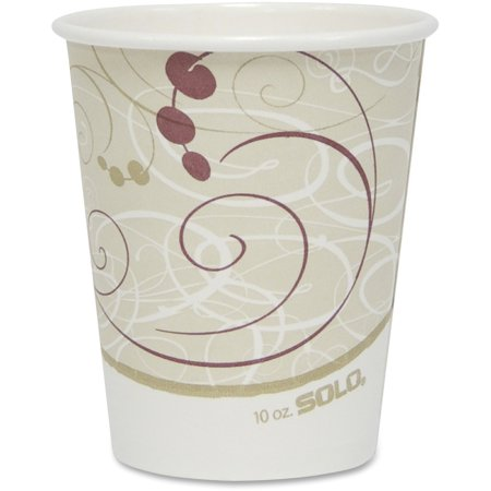 Hot Chick Solo (Solo, SCC370SMJ8000, Cup Poly Lined Hot Paper Cups, 50 / Pack, Beige, 10 fl)