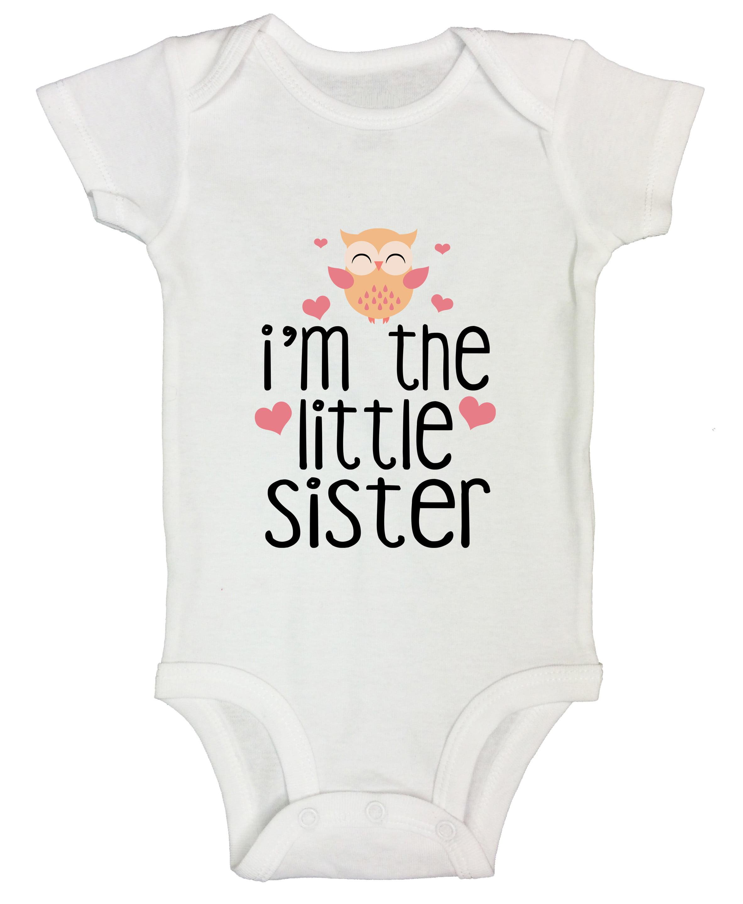 NEW Carter/'s Girls Little Sister White Short Sleeve Bodysuit Top 9 18m 24m Cute