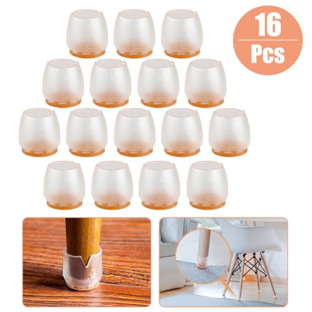 16pcs Silicone Chair Leg Caps Feet Pads Furniture Table Covers Floor Protector (Chair Leg Tacks)