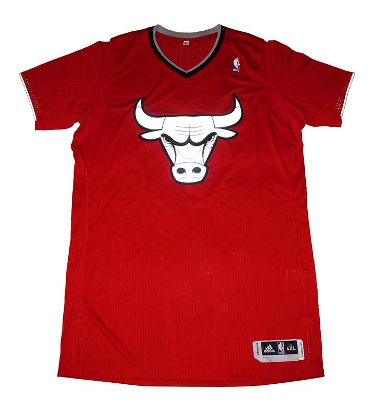 Chicago Bulls Adidas Men's 2013 Christmas Day Blank Authentic Jersey - 4XL