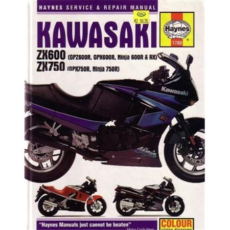 K&L Supply 42-0635 Haynes Motorcycle Repair Manuals, Kawasaki Fours - image 1 of 1