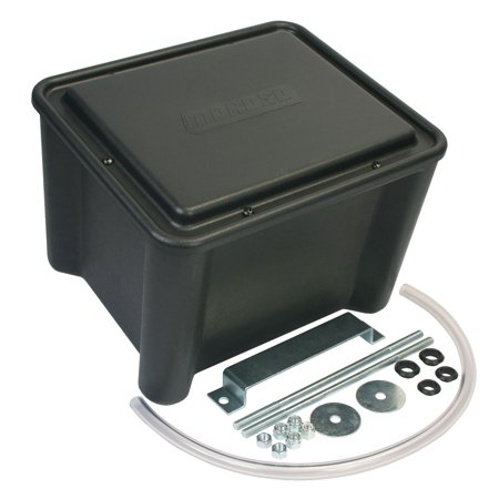 Sealed Battery Box Poly Black Replacement Auto Part, Easy to Install