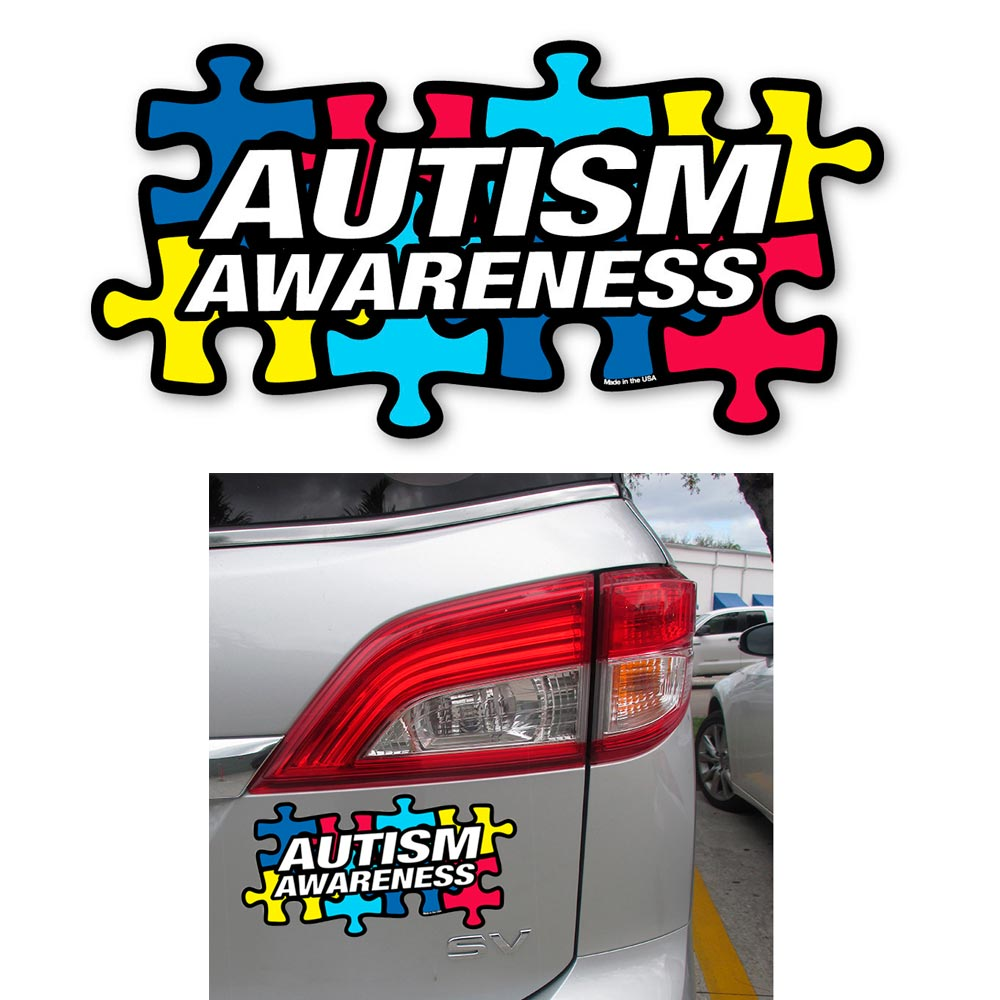 1 Autism Awareness Puzzle Piece Car Truck Bumper Magnet Refrigerator Decal New ! by NZTVMGRX ZNVIRXZ