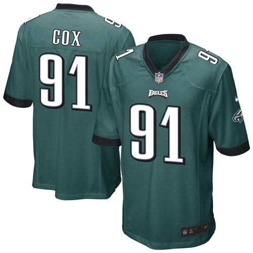 Fletcher Cox Philadelphia Eagles Nike Youth Team Color Game Jersey - Midnight Green