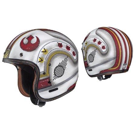 HJC IS-5 Star Wars X-Wing Fighter Pilot Helmet Flat Red (MC-1F) (White, Medium)