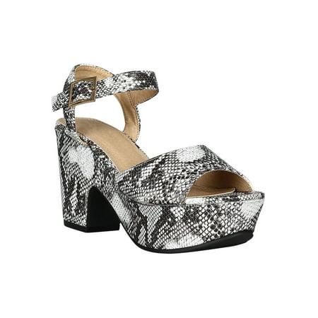 Women Wide Open Toe Platform Chunky Heel Sandal 18466 1/2 Chunky Heel Platform