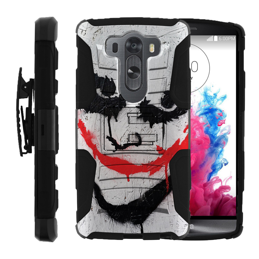 LG V10 Case | LG G4 Pro Case [ Clip Armor ] Rugged Impact Defense Case with a Built in Kickstand + Holster - Joker