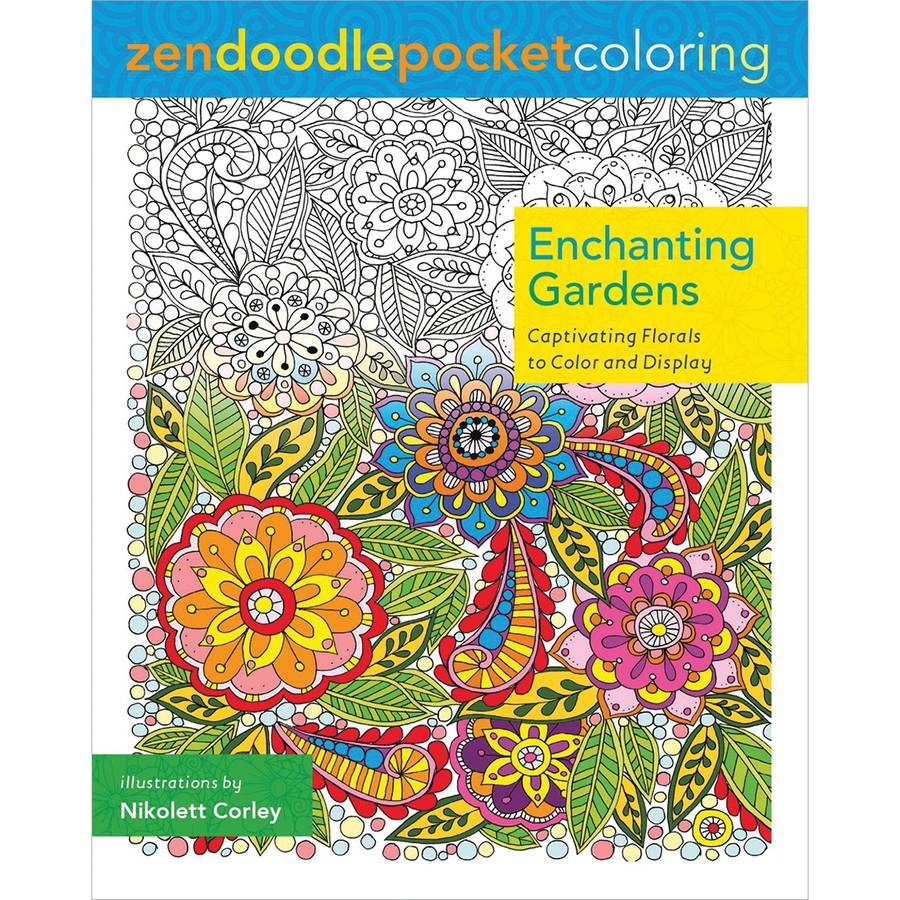 St. Martin's Books Zendoodle Coloring: Enchanting Gardens