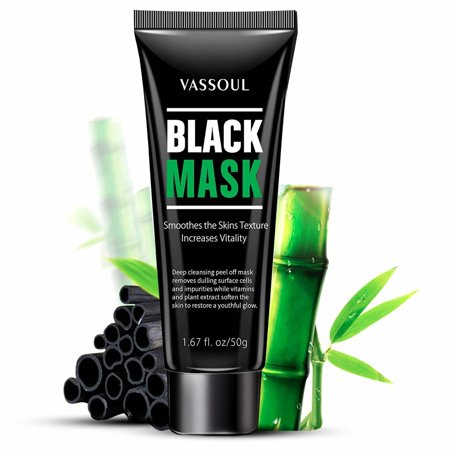Vassoul Blackhead Remover Mask, Activated Charcoal Face Mask Peel Off Mask Deep Cleansing Facial Mask (Sound Activated Mask)