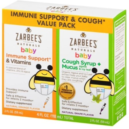 2 Pack Zarbee S Naturals Baby Immune Support Amp Cough