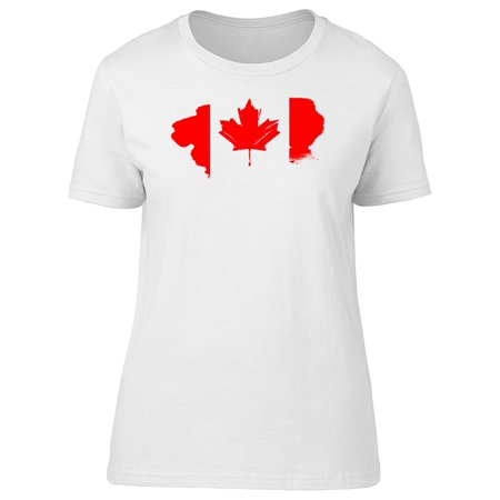 Canada Day T-shirt (Grunge Splash Of Canada Day Tee Women's -Image by Shutterstock)