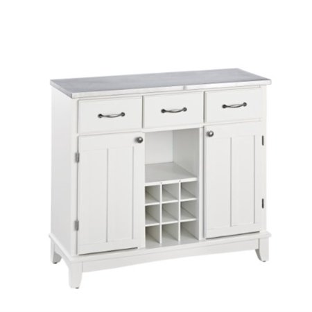 Home Styles 5100-0023 Buffet of Buffets 5001 Series Stainless Steel Top Buffet Server, White Finish