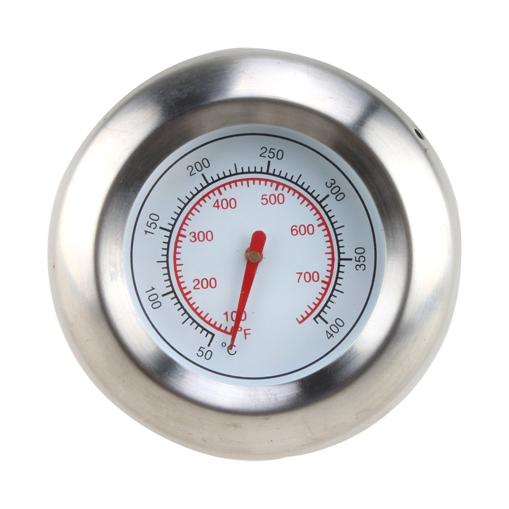 """AGPtek Stainless Steel 3"""" BBQ Grill Cooking Thermometer Temperature Gauge (50-400℃/100-700℉)"""