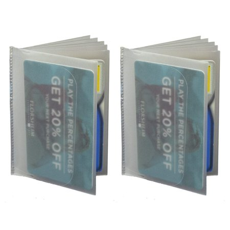 Plastic Wallet Insert 6 page SET OF 2 Picture Holder Made in USA INSTRI 6PGS USA (C) ()