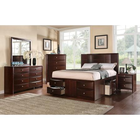 Elegant Innovative Bedroom Furniture Storage Drawers Fb Eastern King Size Bed Dresser Mirror