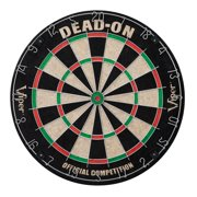 Viper Dead-On Tournament Bristle Steel Tip Dartboard Set with Staple-Free Bullseye, Galvanized Metal Triangular Spider Wire for Reduced Bounce Outs and Increased Scoring; High-Grade Self-Healing Sisal