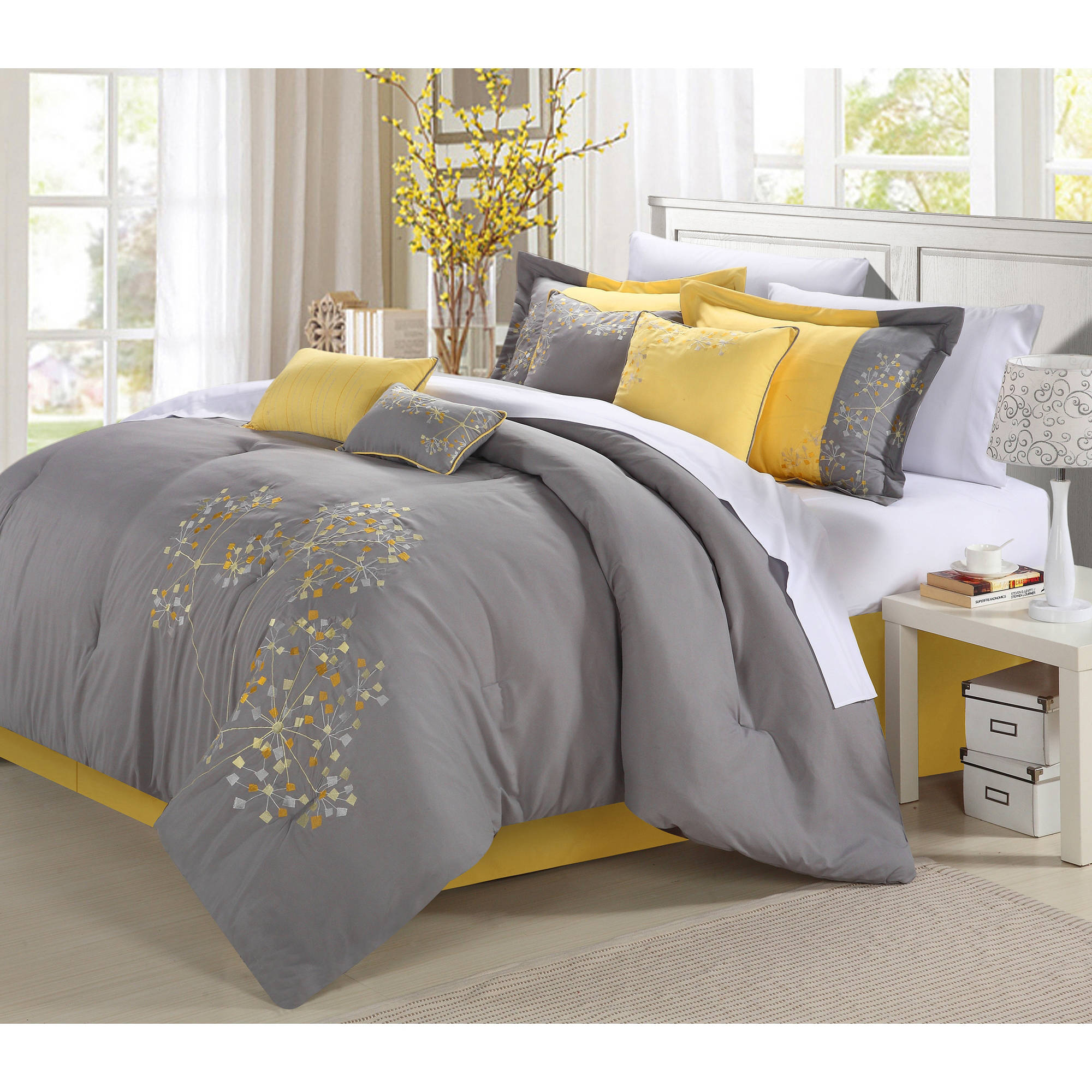 Petunia 12-Piece Bed in a Bag Bedding Comforter Set