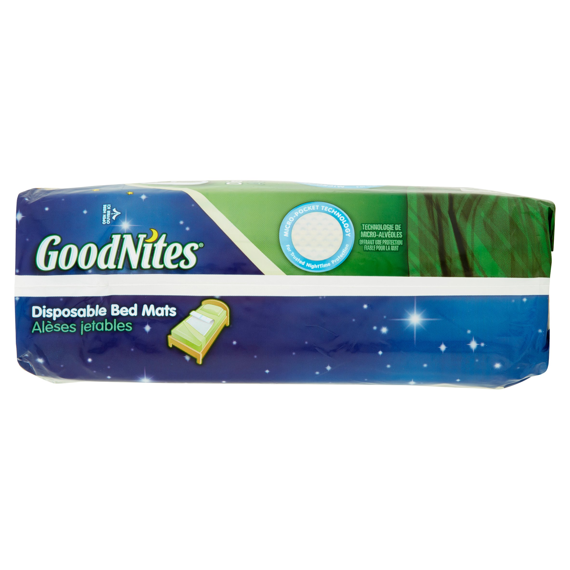 goodnites disposable bed mats 9 count walmart com