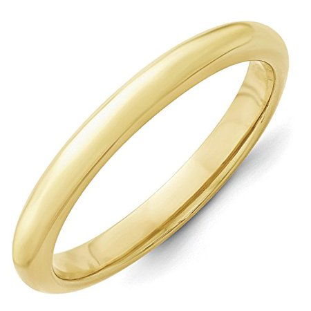 10K Yellow Gold 3.00MM Comfort Fit Wedding Band Ring (7)