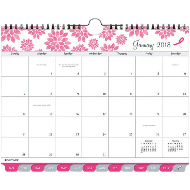 Day Timer 14210 5.5 x 8.5 in. Pink Ribbon Two Page Per Week Organizer Refill, 2017