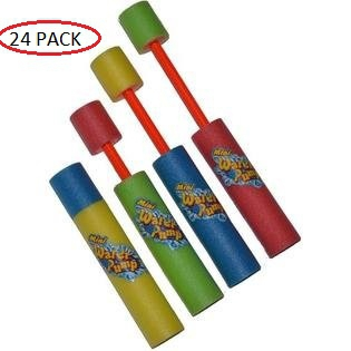 24 Pack Mini Foam Water Gun Light Weight Soaker Cannon Shooter Assorted Blasters Colors for Pool Party... by