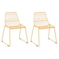 Kids Geometric Wire Activity Chairs 2pk Yellow