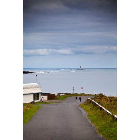 Blackrock Lighthouse Off Rosses Point County Sligo Ireland Canvas Art   Panoramic Images  36 X 12