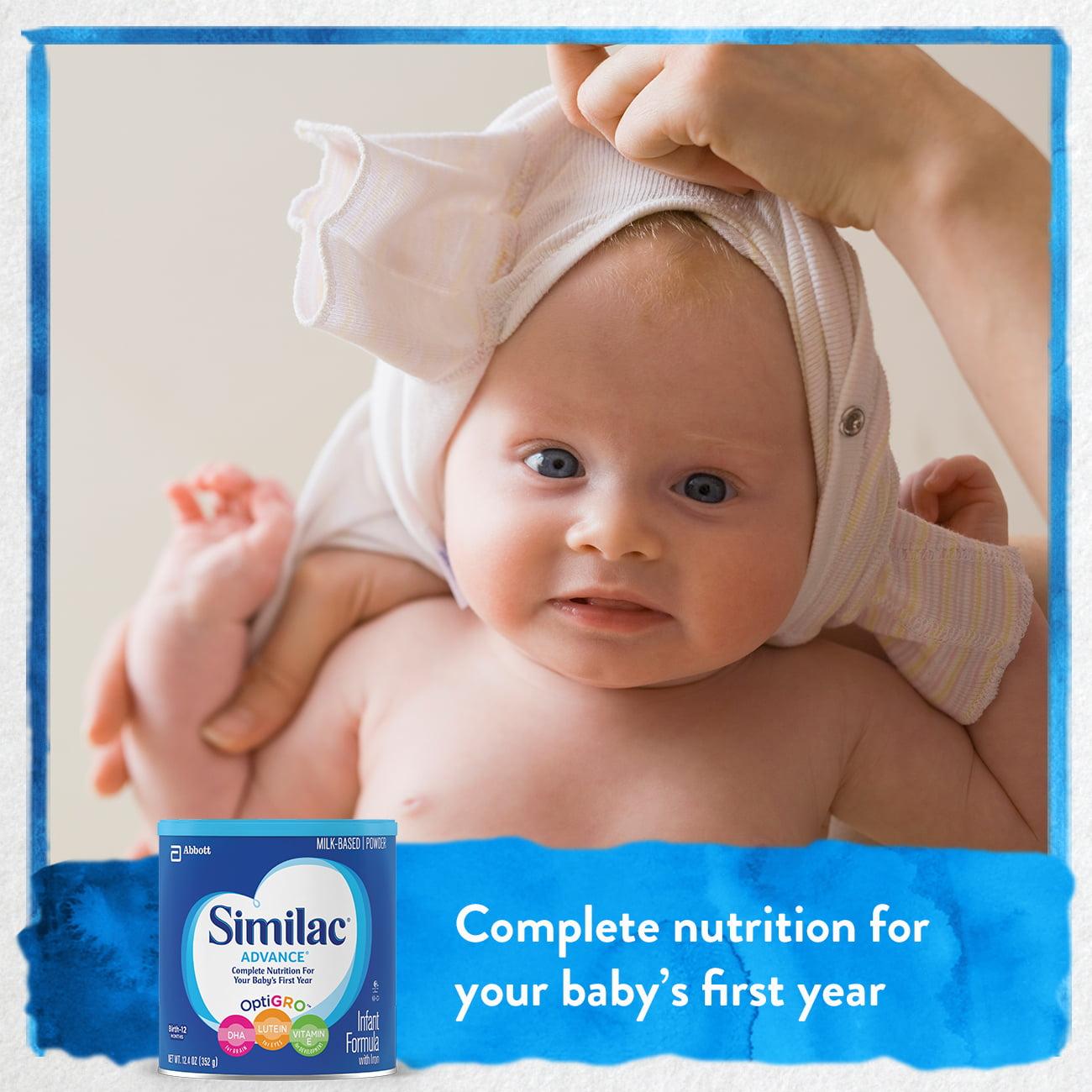 Similac Advance Infant Formula With Iron Powder 124 Oz Walmartcom