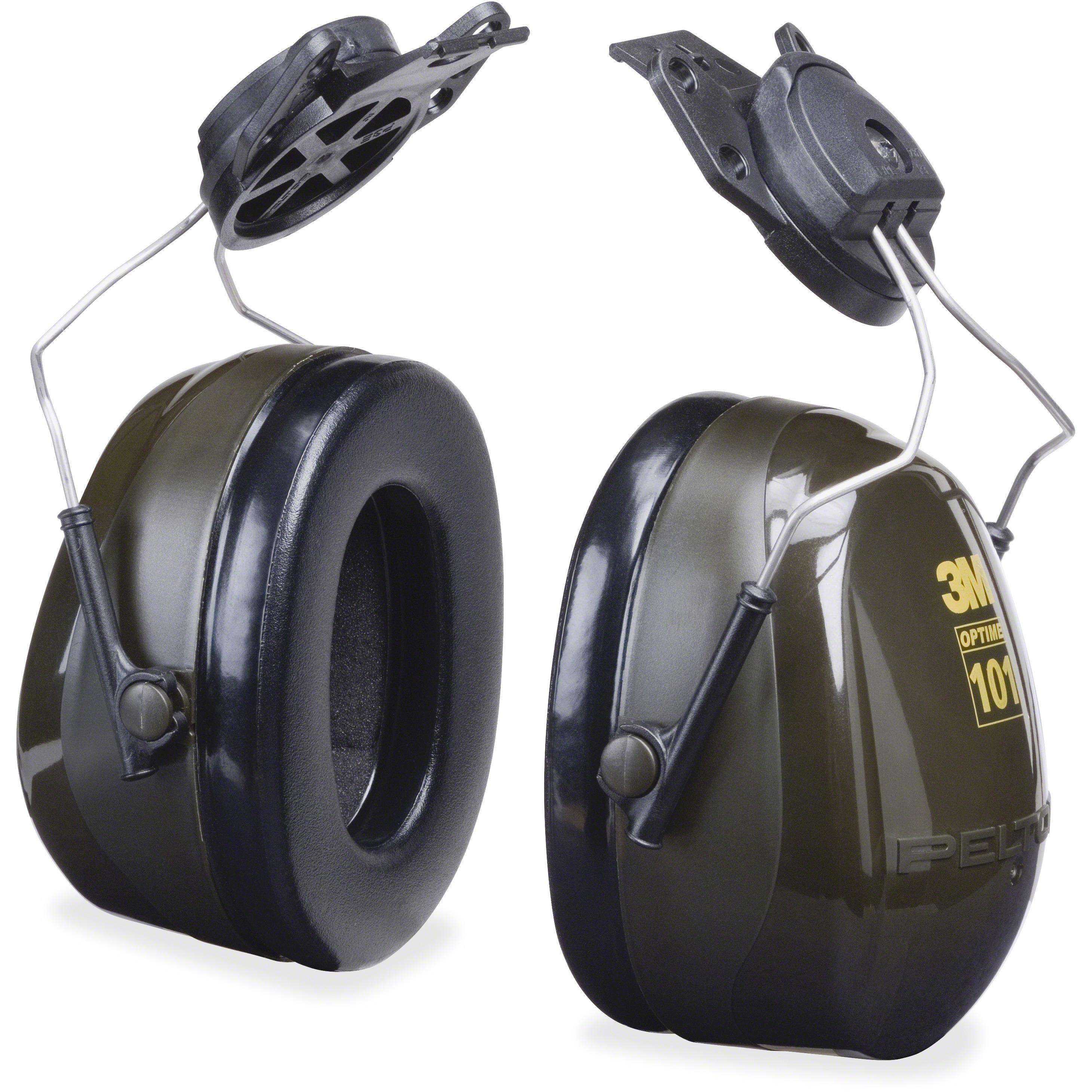 Peltor, MMMH7P3E, Optime Earmuff Cap-Mount Headset, 1 Each, Black