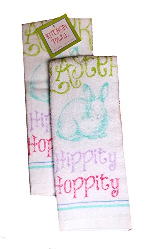 Easter Spring Kitchen Towel Set 2 Pack Decorated Eggs by Kane Home