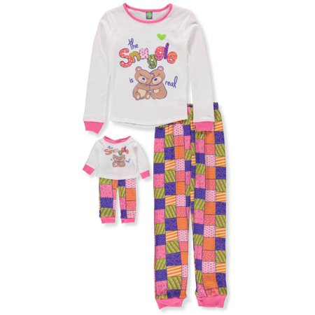 Dollie & Me Girls' 2-Piece Pajama Set with Doll Outfit (Dolly And Me Pajamas)